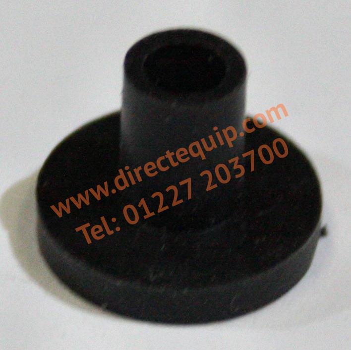 Black Rubber Flanged Mirror Plug